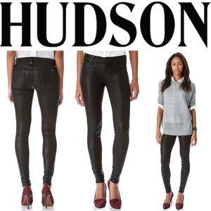 Hudson Wax Coated Krista Super Skinny Jeans